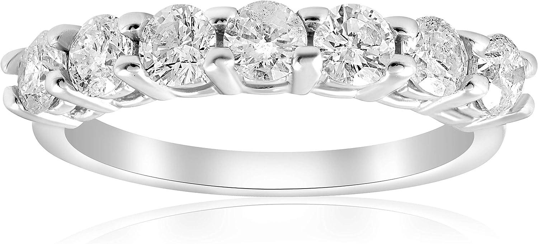 1ct Diamond Wedding Anniversary Ring 14K White Gold