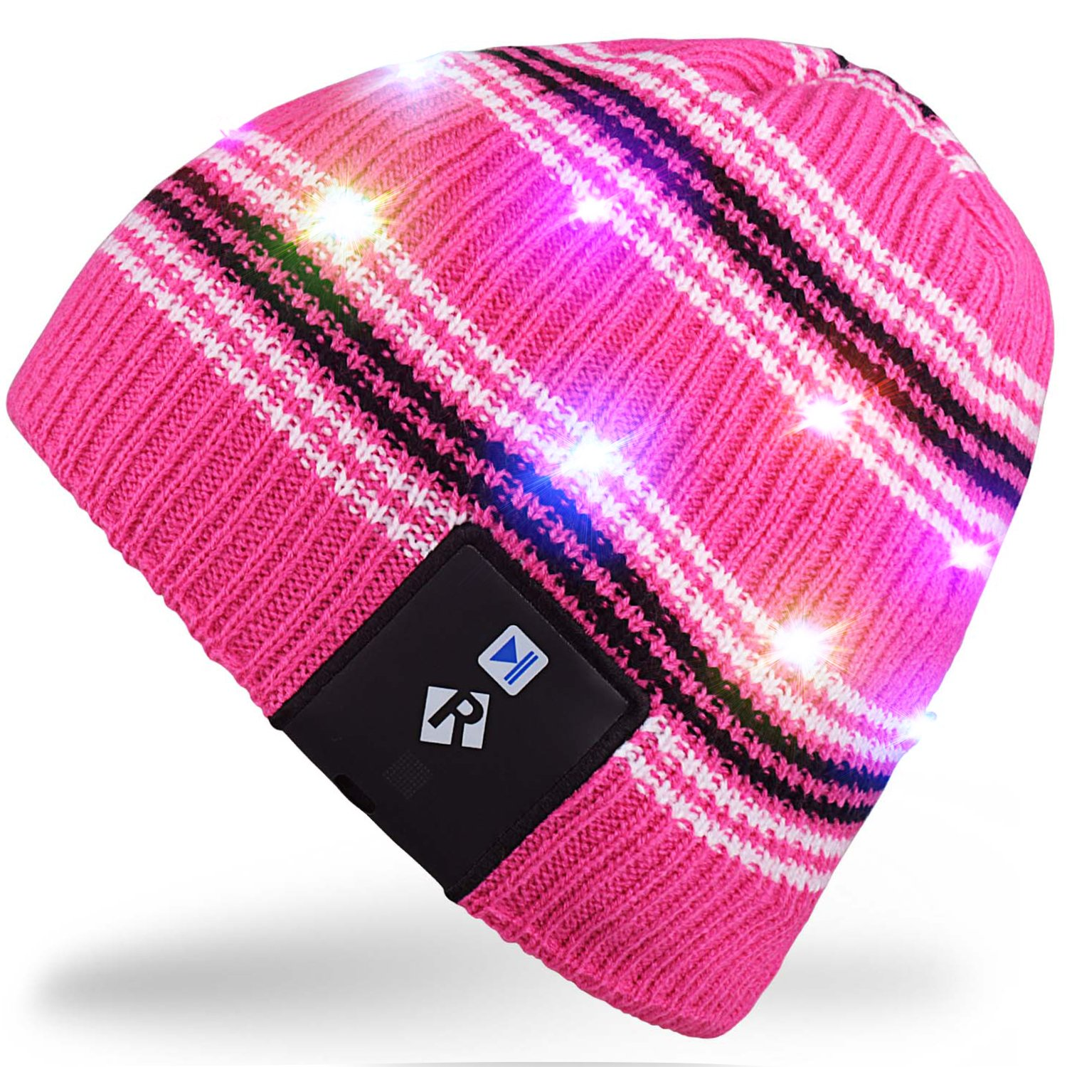 Rotibox Elegante LED String Light Up cappello Beanie cappello a maglia con  fili di rame Luci colorate per Uomini Donne Indoor e Outdoor 6b3948cc50a9