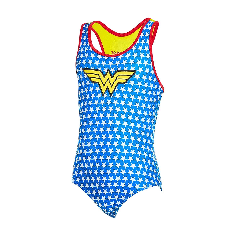 Zoggs Girls' Wonder Woman Actionback Swimsuit