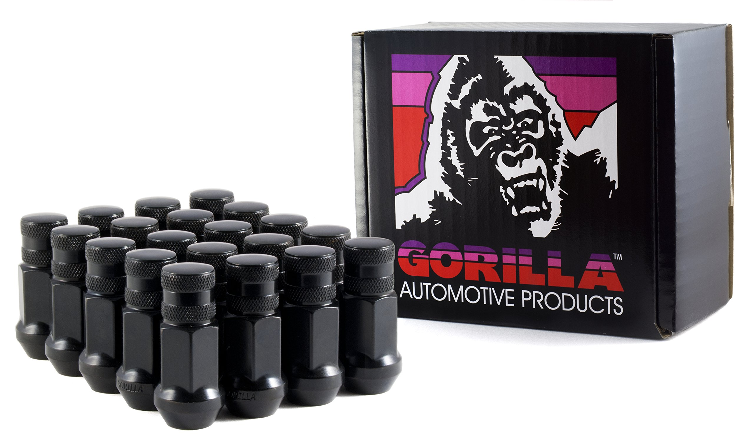 Gorilla Automotive 45138BC-20 Black 12mm x 1.50 Thread Size Forged Steel Chrome Finish Closed End Lug Nut, (Pack of 20)