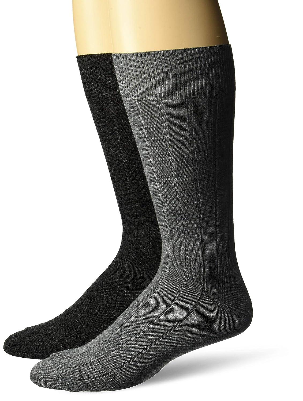 Brand BUTTONED DOWN Mens 2-Pack Merino Wool Dress Socks MBD75003