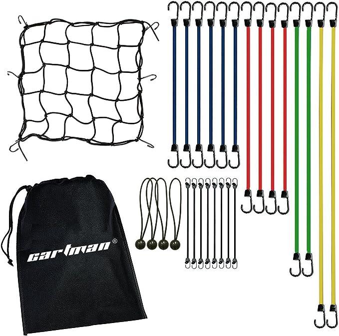 Stretch Cord Luggage Strap Rope Elastic Hook Tie Bungee Van Bicycle Scooter FI