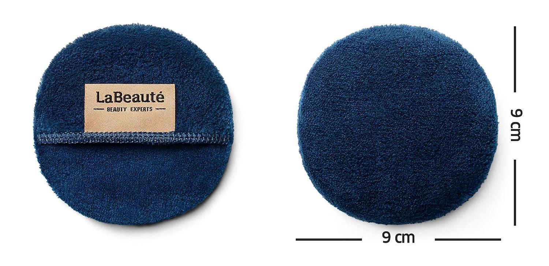6 St/ück /Ø 9 cm, Navy-Dunkelblau Gesichtsreinigung und Abschminkpads waschbar und wiederverwendbar LaBeaut/é Make-Up Entferner Pads