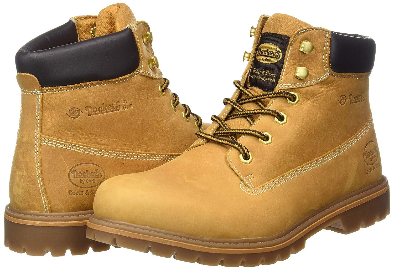 Dockers 35ca001, Botas Militar para Hombre, Amarillo (Golden Tan 910), 43 EU