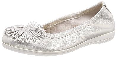 Caprice Damen Geschlossene Ballerinas, Weiß (Offwht Glitter 112), 39 EU