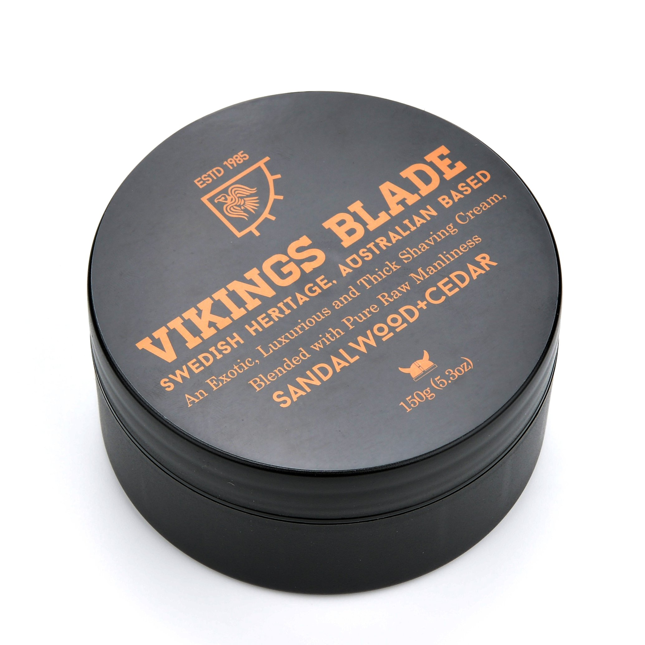 VIKINGS BLADE Luxury Foaming Shaving Cream, Sandalwood & Western Red Cedar, NON-LATHER