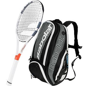 Babolat Pure Strike 26 cm Junior Raqueta de tenis paquete con un puro rendimiento tenis mochila o 3 raqueta bolsa, negro/gris: Amazon.es: Deportes y aire ...