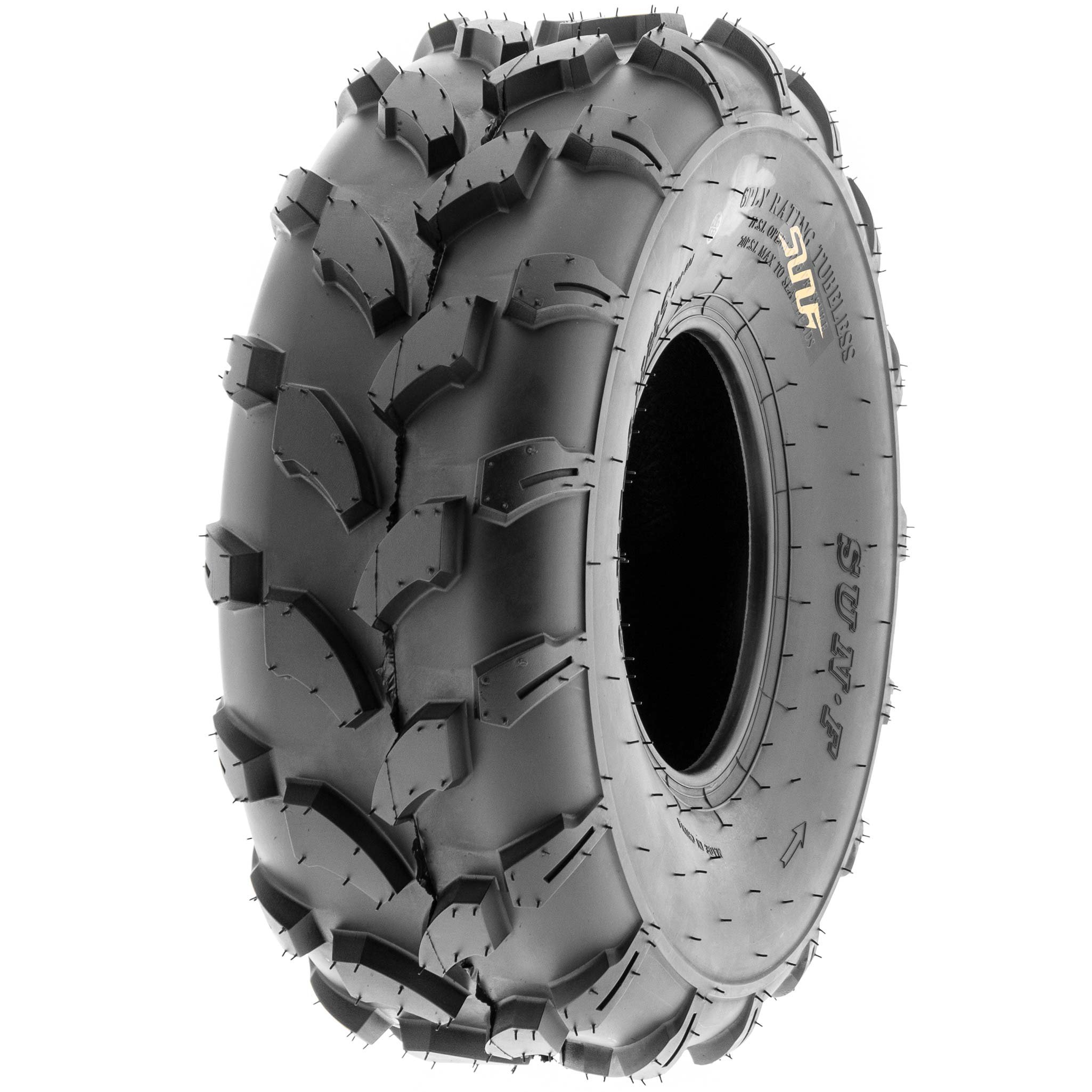 SunF 19x7-8 19x7x8 ATV UTV All Terrain Trail Replacement 6 PR Tubeless Tires A003, [Set of 2] by SUNF (Image #8)