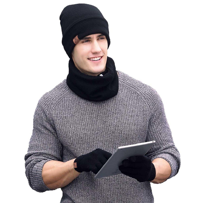 5b24b0e51ee8 Heekpek® Bufanda Gorro Guantes para Hombre Invierno Regalos para ...