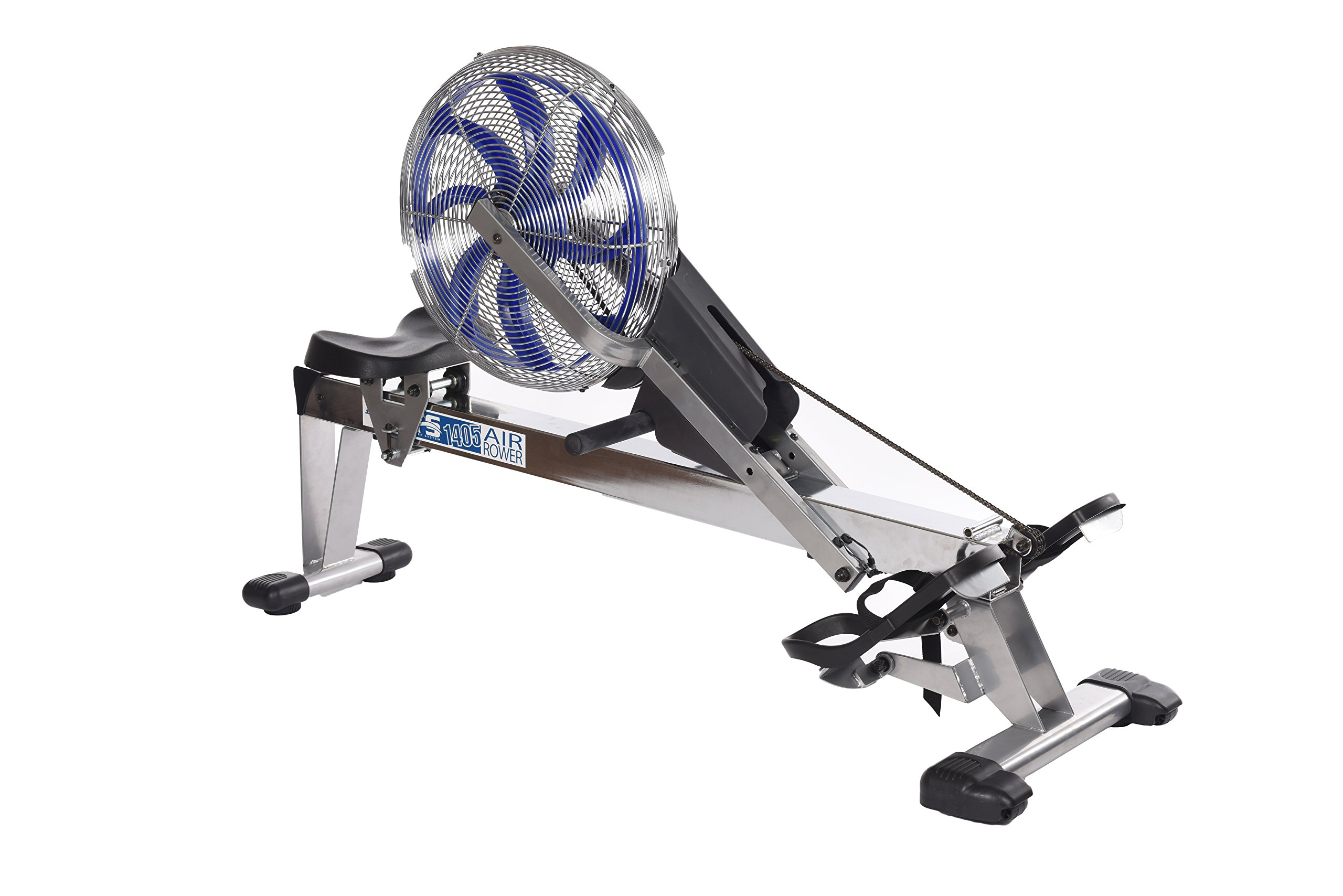 Stamina 35-1405 ATS Air Rower 1405 Rowing Machine, Air Resistance, LCD Fitness Monitor, Folding and Built-in Wheels, Chrome/Blue/Black by Stamina (Image #9)