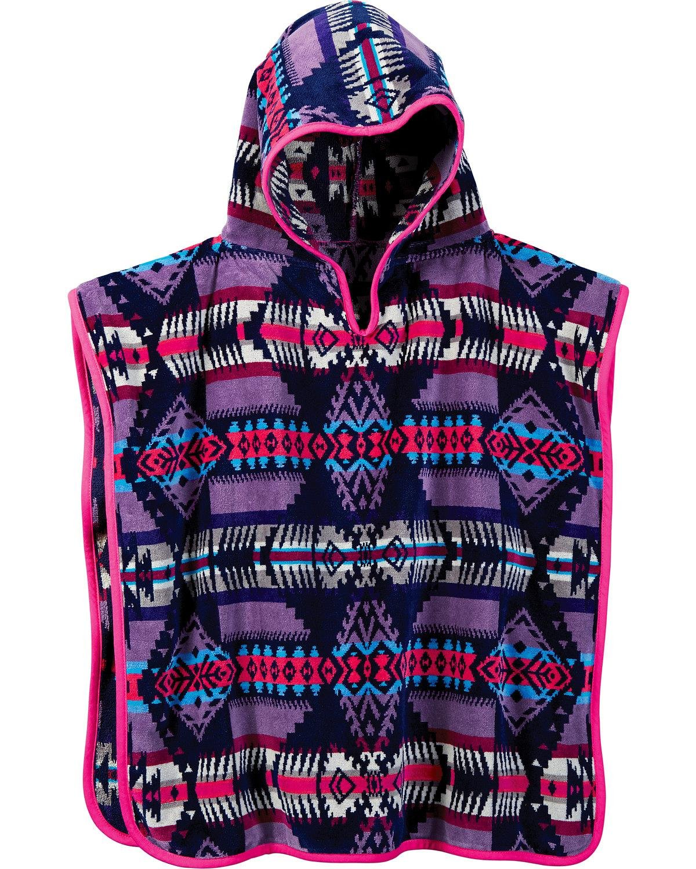 Pendleton Girls' Jacquard Hooded Towel Pink One Size 72386 7533 1SZ