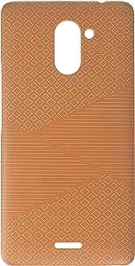AMZER Slim Designer Snap On Hard Case Back Cover for Infinix Hot 4 Pro - Carbon Fibre Redux Desert Sand 6