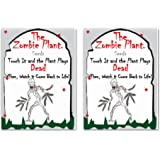 Zombie Plant Seed Packets (2) Grow Your Real Live Zombie Plant. Watch it Play Dead When Touched! Supplies for Zombie Themed Birthday. Plant Zombie Seeds as an Activity. Great Stocking Stuffer!