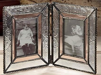 J Devlin Pic 172 – 2 doble tablero de la mesa marco de fotos 2 x