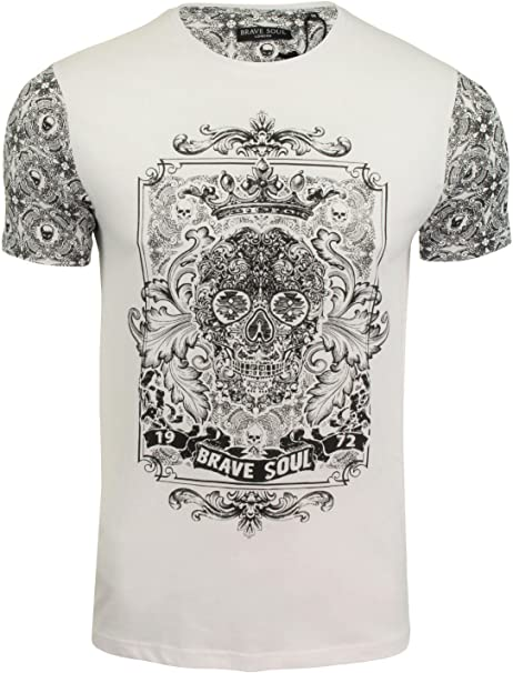 Mens Brave Soul /'Angelo/' Marl Fleck T Shirt Short Sleeved