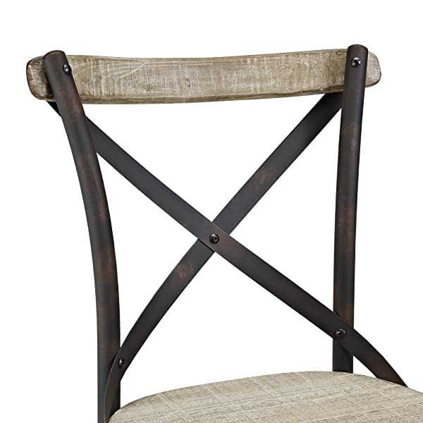 WE Furniture Urban Reclamation Deluxe Dining Chairs, Set of 2