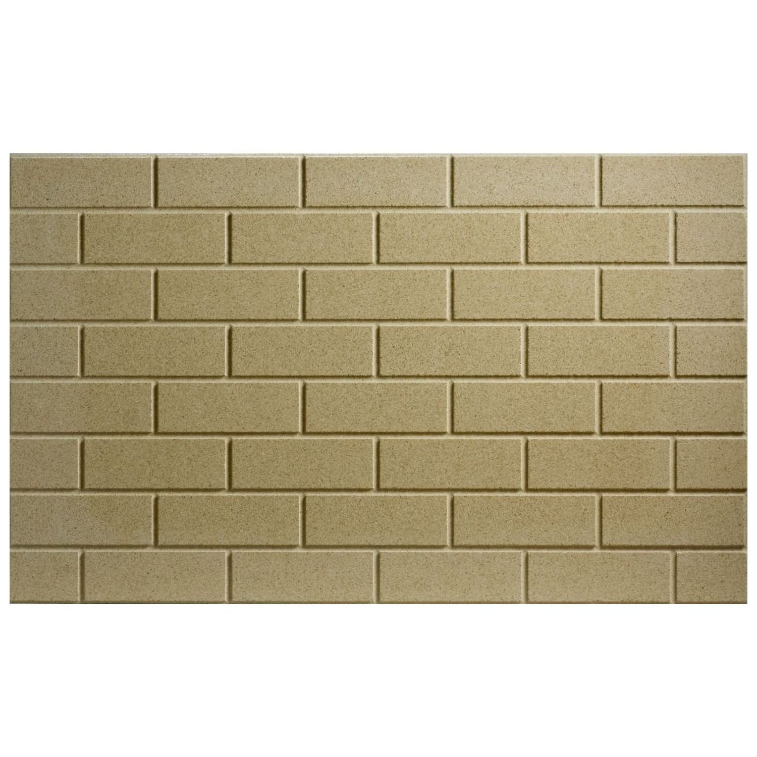 Thermax Vermiculite Refractory Panel 24 inch X 29 5/8 inch (3'' x 8'' Brick Pattern)