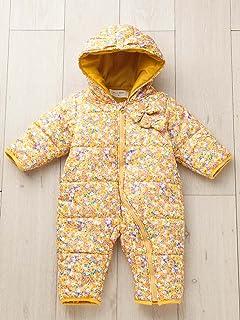 4269c4585e65d WILL MERY ウィルメリー ベビー 花柄 ジャンプ スーツ 赤ちゃん ベビー服 防寒 女の子 あったか アウター 70