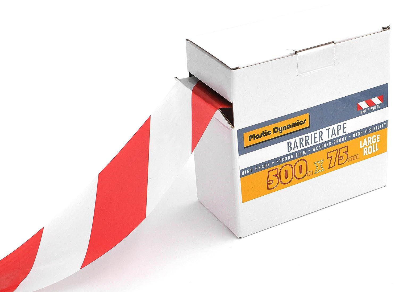 Plastic Dynamics/® Ruban de balisage 75/mm x 500/m