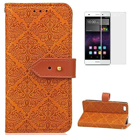 Amazon.com: Huawei P8 Lite funda tipo portafolios de piel ...