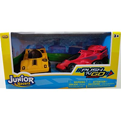 Junior Racers Push N' GO 2PK Jet Racer & Race Car : Baby