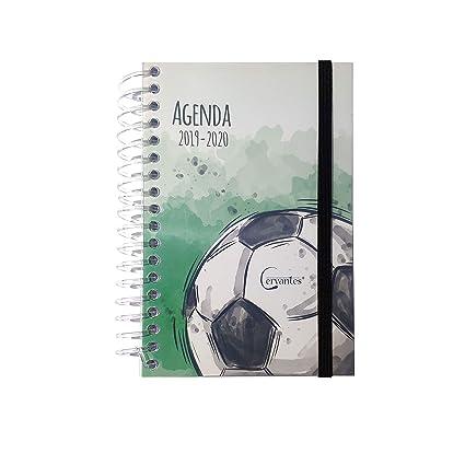 Agenda Escolar 2019-2020 con tapa plastico formato pequeño 120x160 mm español (Futbol)