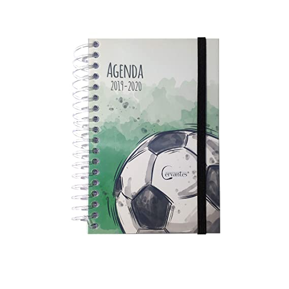 Agenda Escolar 2019-2020 con tapa plastico formato pequeño 120x160 mm español (Gimnasia)