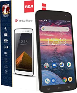 "RCA Q2 Android 9.0 Pie, 5.0"" HD, 4G LTE, 16GB, 8MP 5MP Dual Camera, Dual Sim, Unlocked Smartphone (Black)"