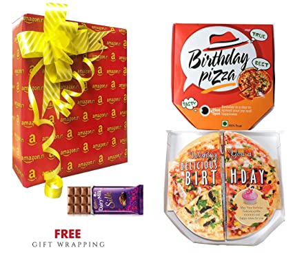 Birthday Pizza Theme Greeting Card Prank Funny Gift With Personalized Handwritten Message And Exclusive Amazon Wrapping