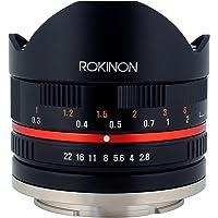 Rokinon 8mm F2.8 UMC Fisheye II (Black) Fixed Lens for Sony E-Mount (NEX) Cameras (RK8MBK28-E)