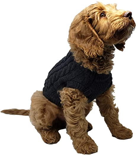 88a9a5e3c Amazon.com   Funky Junque DOG-100-70-S C.C Pet Sweater - Charcoal ...