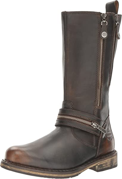 50a797513d2b SACKETT Ladies Leather Zip Up Mid Calf Boots Brown. Back. Double-tap to zoom