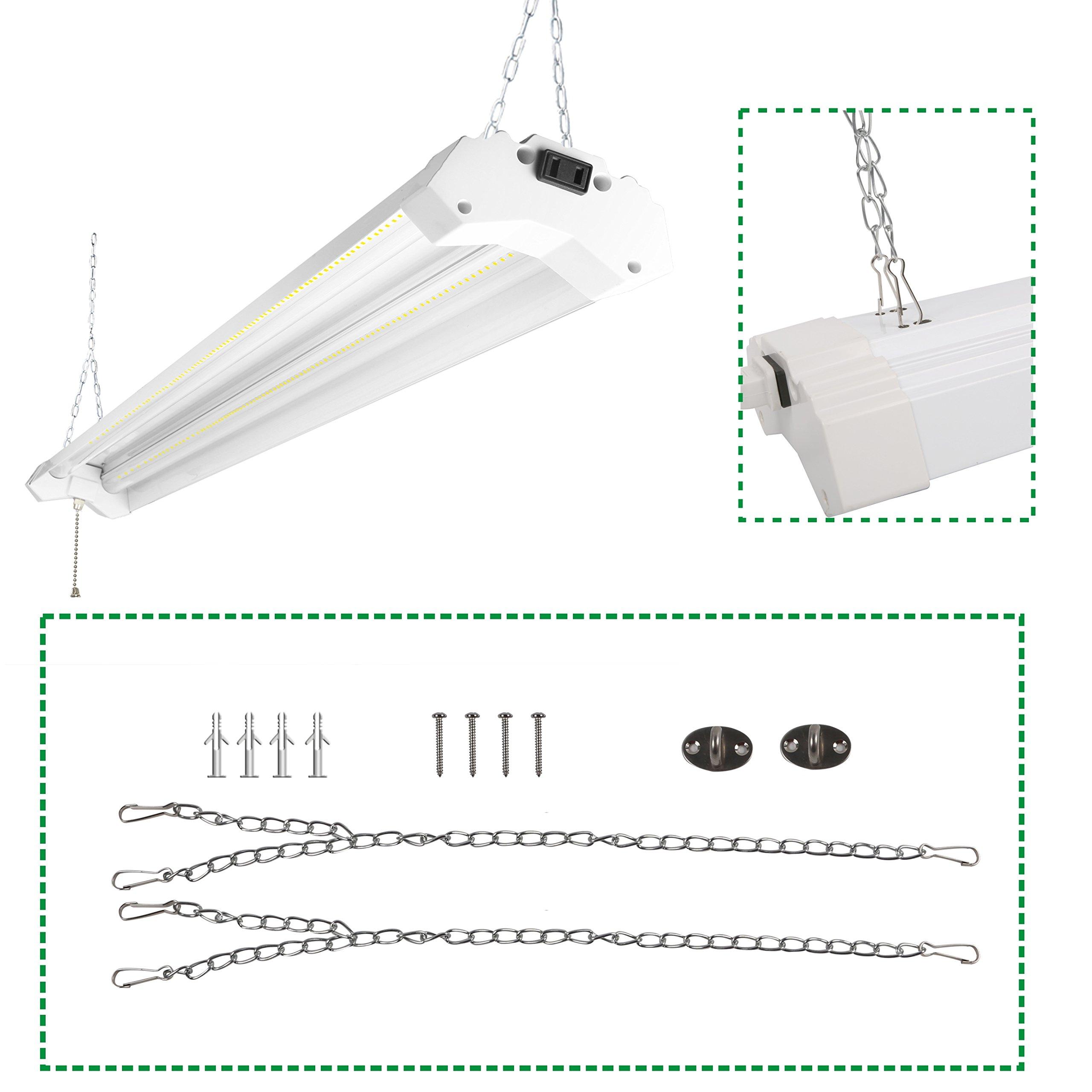 5000 Lumen 4000k Led Garage Shop Light Fixture Hanging