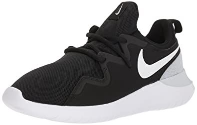 34e0321a2 Nike Women's Tessen Running Shoe, Black/White-Pure Platinum, 5 Regular US