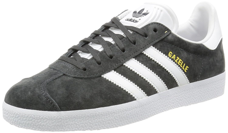 Adidas Originals Gazelle, Zapatillas de Deporte Unisex Adulto 42 2/3 EU|Gris (Dgh Solid Grey/White/Gold Metallic)