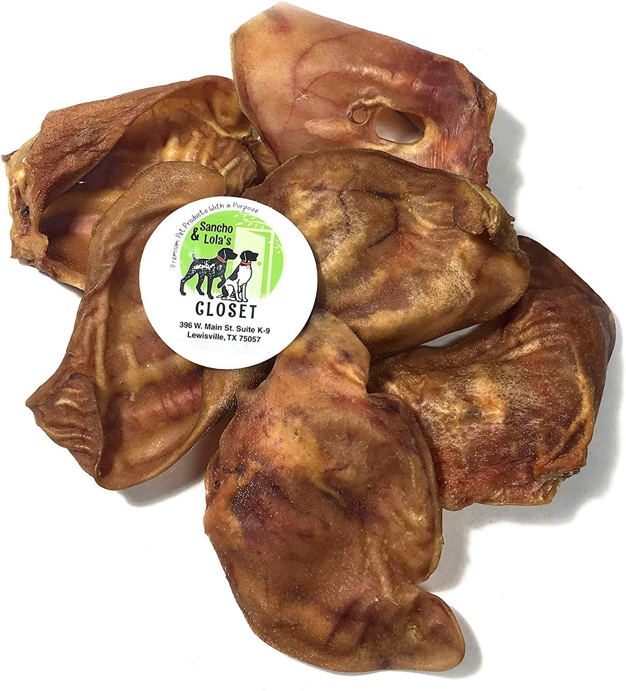 Sancho /& Lolas Pig Ears for Dogs 6-Count Grain-Free Collagen-Rich Ultra-Premium Dog Chews Made in The USA Maple-Smoked Thick-Cut Human-Grade
