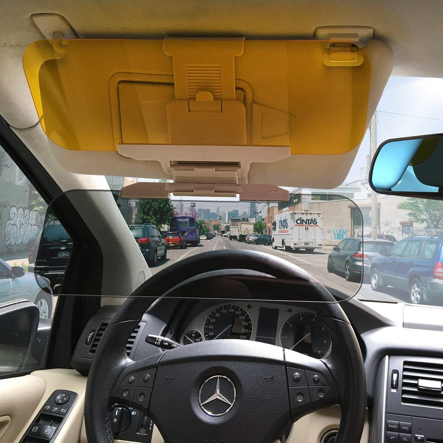 Car Sun Visor Extender Anti Glare Blocker HD Day Night Driving Visor Glare Sun Shield Tinted Lens Blocker Car Extender Visor Sunscreen Extendable Visor for Car Sun Windshield Glare Blocking Visor