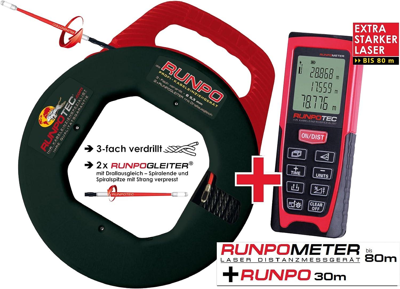 Runpo Kabeleinziehset Runpometer Rm80 Laser Elektronik
