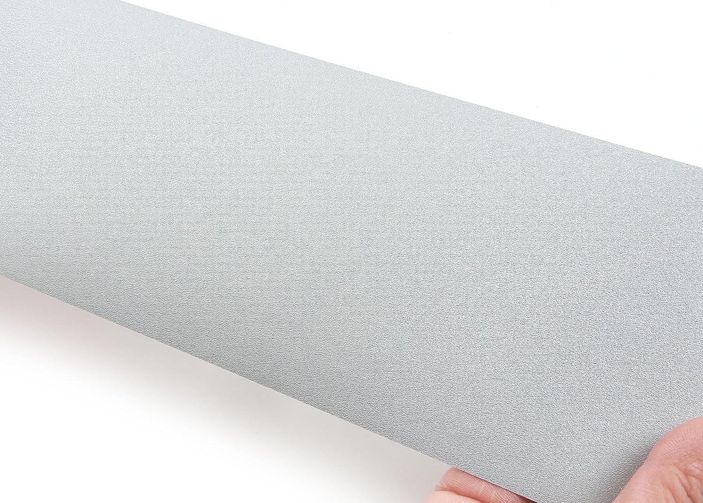 MG5010-5 : 2.00 Feet X 6.56 Feet ROSEROSA Peel and Stick PVC Instant Metallic Decorative Self-Adhesive Film Countertop Backsplash Luxury Ash