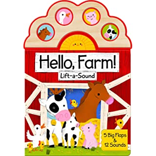 Hello, Farm!: Lift-a-sound (Lift-A-Sound Board Book)