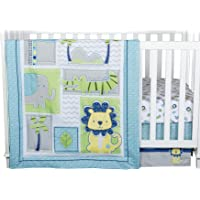 Trend Lab Jungle Roar 4-Piece Crib Bedding Set, Yellow