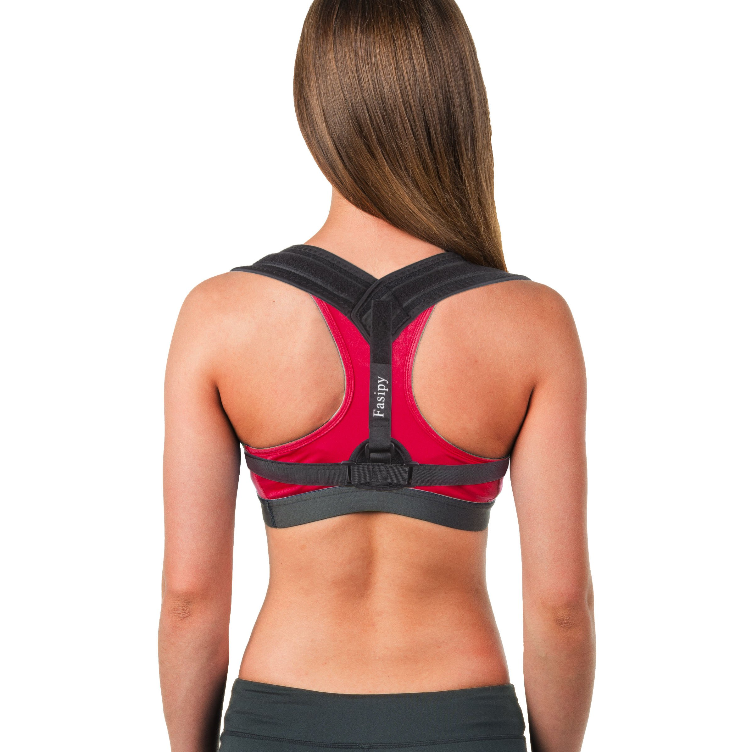 Back Posture Corrector for Women & Men, Fasipy Effective and Comfortable Posture Brace for Slouching & Hunching, Adjustable Clavicle Support for Shoulder & Neck Pain Relief