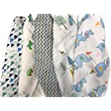 Colourful Jcb Muslin Squares Baby Bib Official New Gift Zippy 3pk