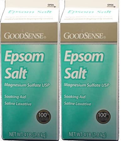 Epsom Salt Magnesium Sulfate Soaking Solution, 4 Lb. per Box Pack of 2 Total