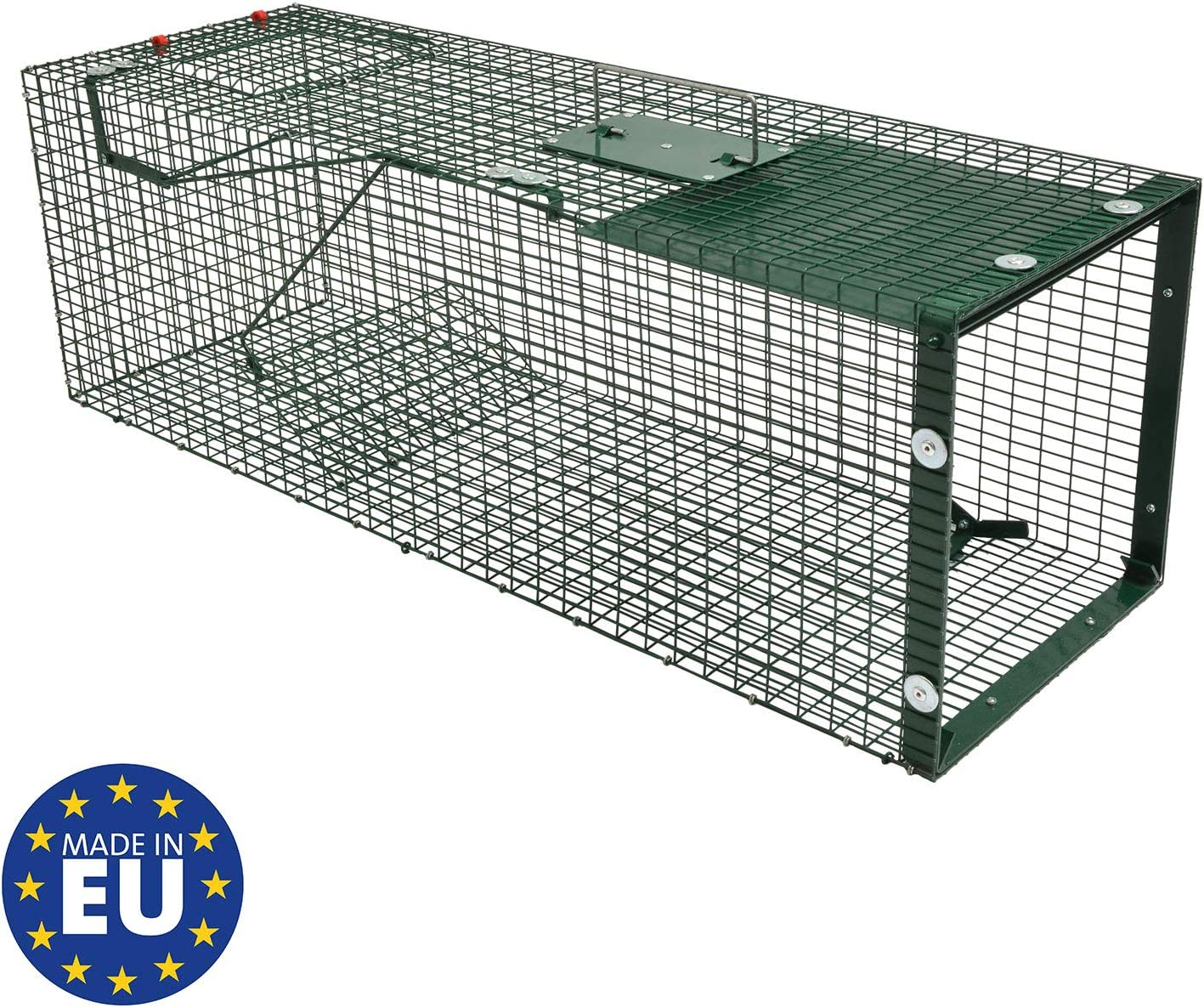 Moorland Safe 5002 - Trampa para Animales Vivos - 90x30x30 cm - para martas, Gatos, Zorros, Conejos - con 1 Entrada