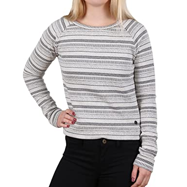 450374a70877 TOM TAILOR Denim Structured Sweat Damen Pullover Grau  Amazon.de ...