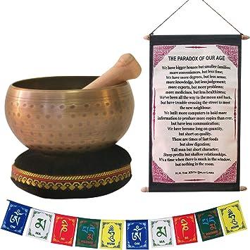 Amazon.com: Tazón tibetano para meditación, curación y yoga ...