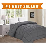 Best Selling Luxury Comforter on Amazon! Elegant Comfort Ultra Plush Down Alternative Double-Filled Comforter %100 HypoAllergenic, Full/Queen , Gray