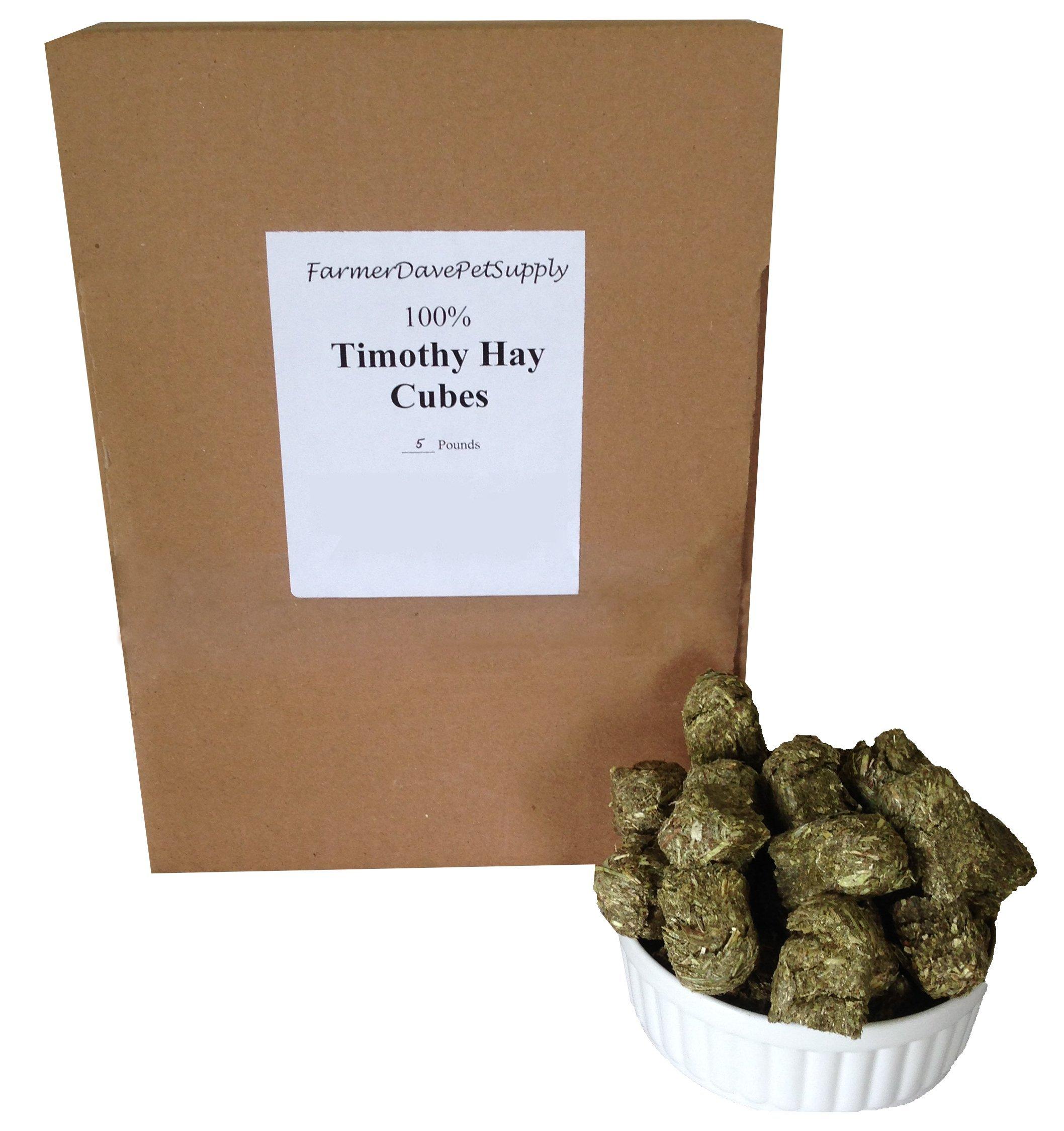 FarmerDavePetSupply 5 lb, TIMOTHY HAY MINI CUBES FOR PETS