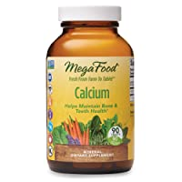 MegaFood, Calcium, Supports Healthy Bones and Teeth, Mineral Supplement, Gluten Free, Vegan, 90 Tablets (90 Servings) (FFP)